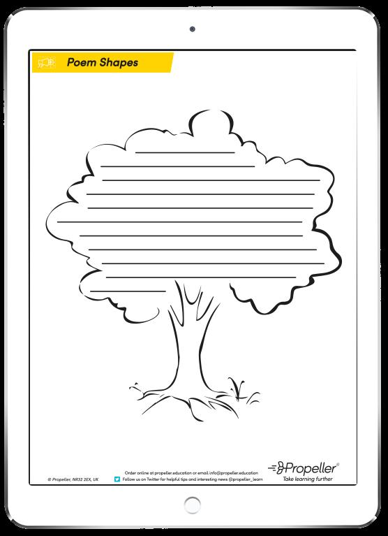 Poem Shape Templates - FREE download ~ Propeller Education