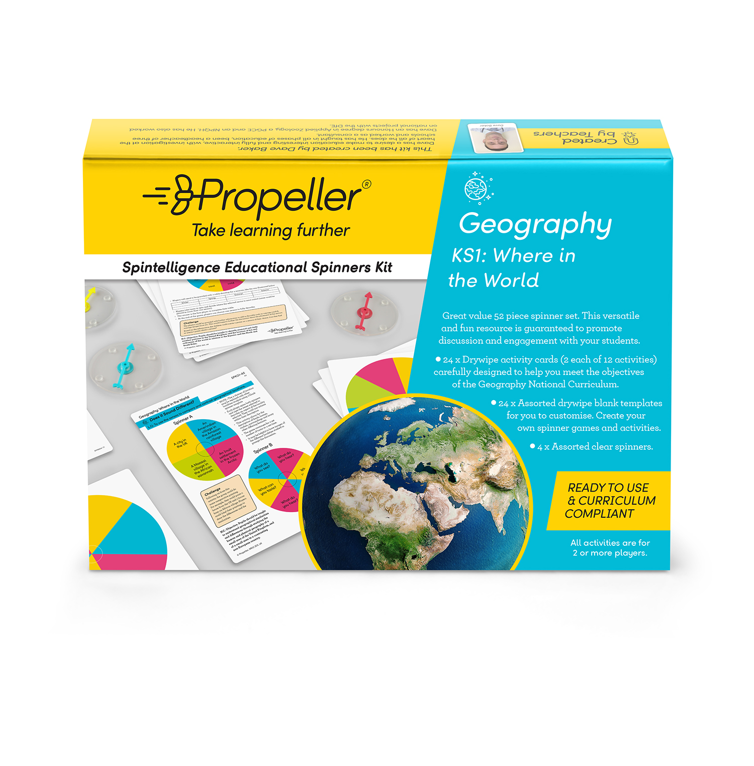 KS1 Where in the World Geography Spinner Kit  Propeller Education