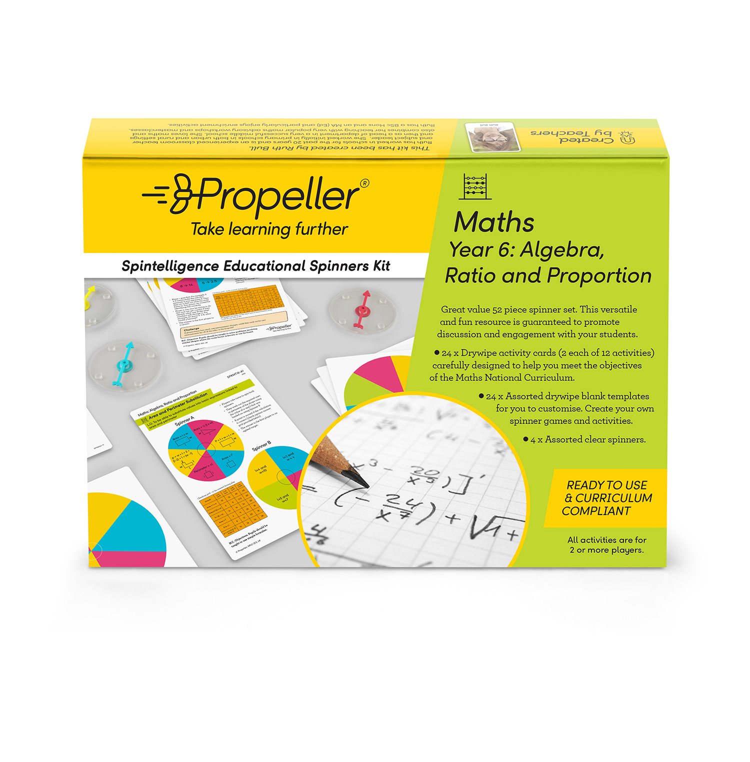 Year 6 Algebra Ratio And Proportion Spinner Kit Propeller Education