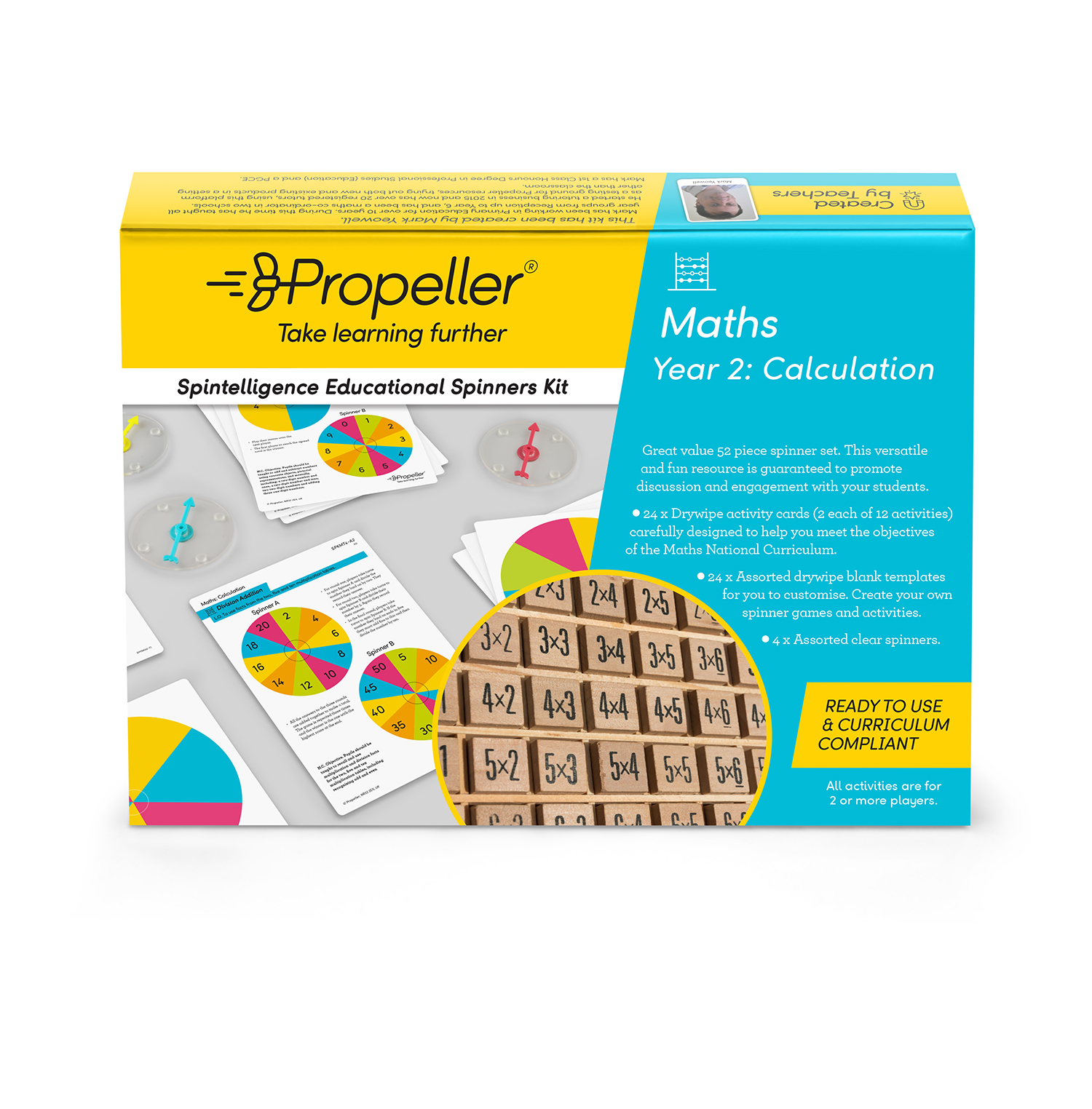 Year 2 - Calculation Spinner Kit ~ Propeller Education