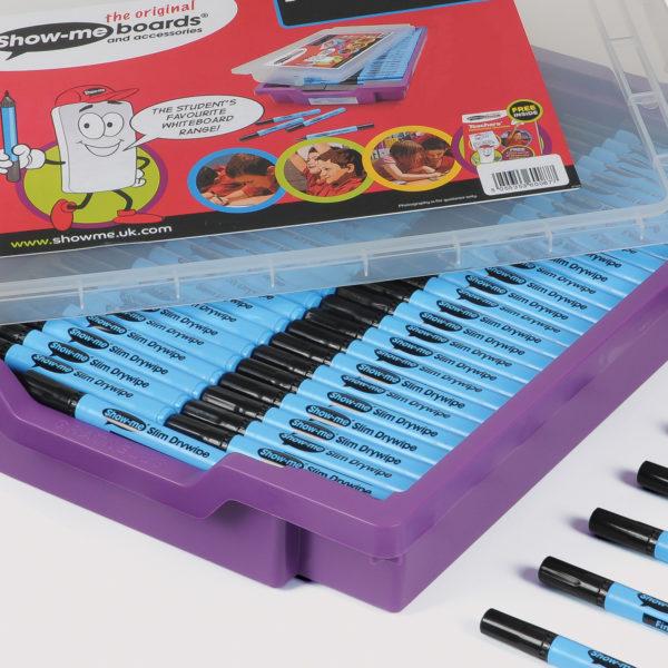 Fine point drywipe whiteboard pens