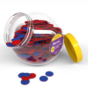 cj1000d pot of 1000 double-sided counters