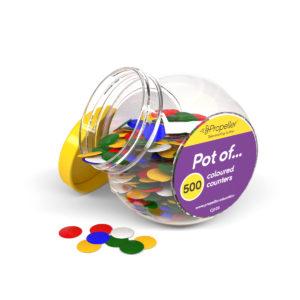 cj500 pot of 500 single-coloured counters