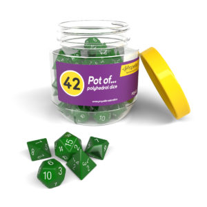 pdj42 pot of 42 polyhedral dice