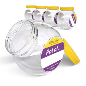 j6505 pack of 5 multi stack 650ml jars with yellow screw top lids